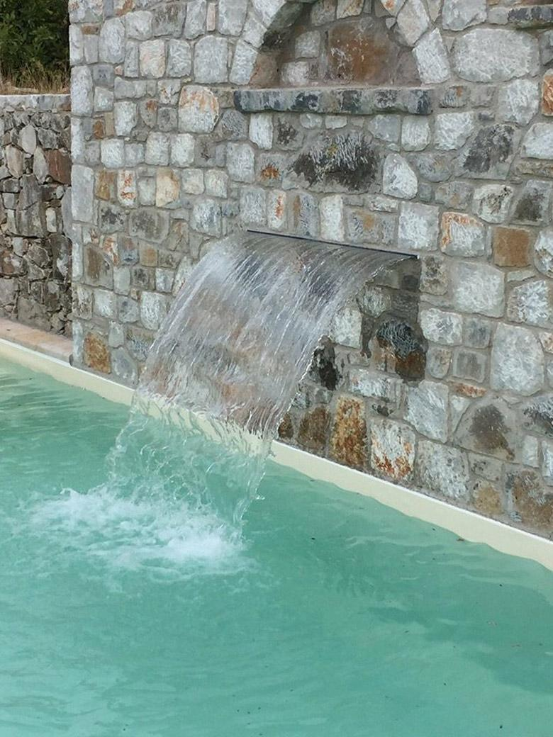 COMPLETED SWIMMING POOL IN TRADITIONAL HOUSE IN ASKYFOU VILLAGE