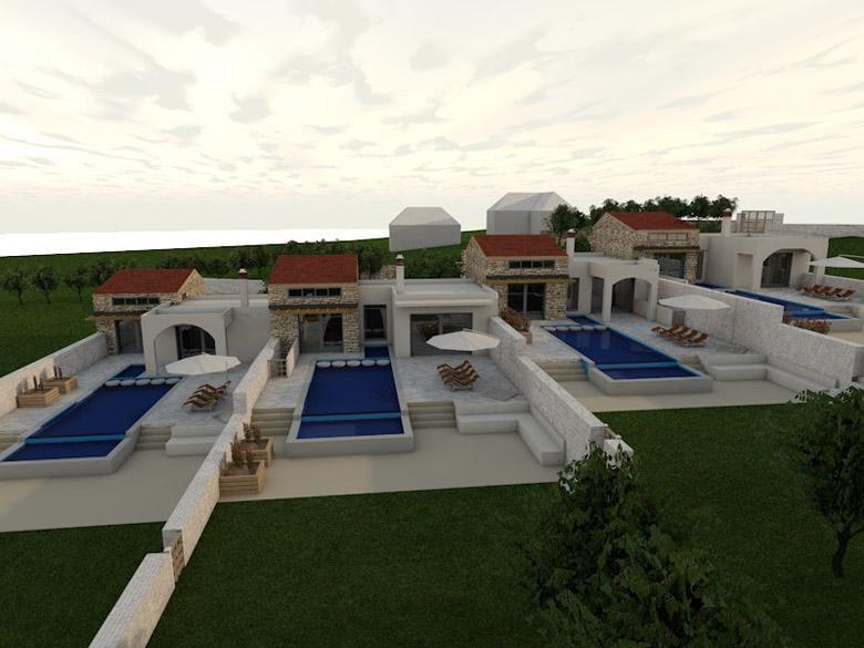 Μελέτη για τέσσερις τουριστικές κατοικίες